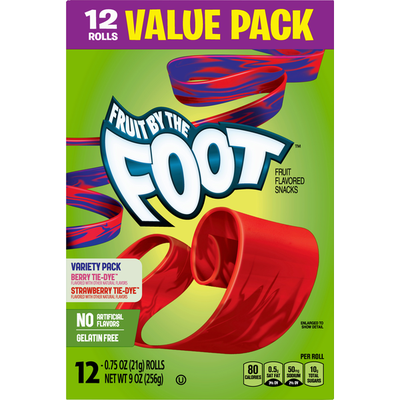 Fruit by the Foot Fruit Flavored Snacks, Variety Pack, Value Pack