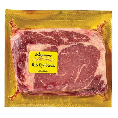 Wegmans Beef, Rib Eye Steak, USDA Choice