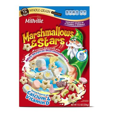 Millville Marshmallows & Stars Frosted Oat Cereal