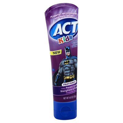 ACT Toothpaste, Anticavity Fluoride, Fruit Punch
