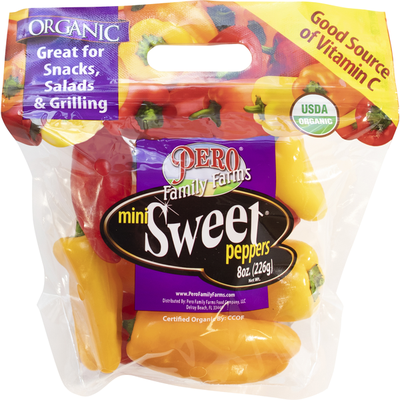 Pero Family Farms Mini Sweet Peppers, Organic