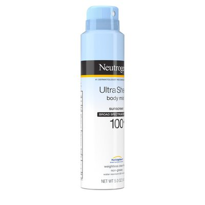 Neutrogena® Ultra Sheer Body Mist Sunscreen Broad Spectrum SPF 100+