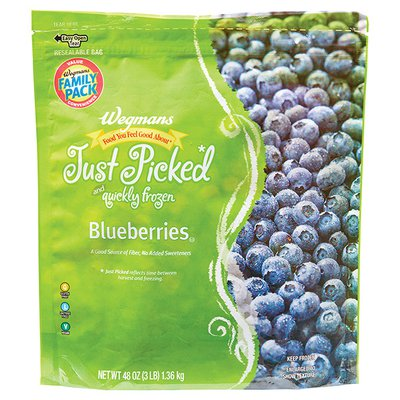 Wegmans Food You Feel Good About Just Picked and Quickly Frozen Blueberries, FAMILY PACK