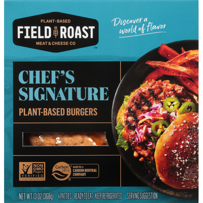 Field Roast Burgers, Plant-Based, Chef's Signature