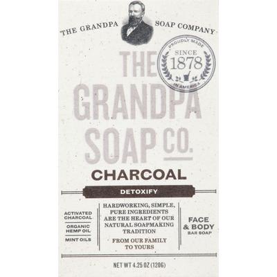 Grandpa's Bar Soap, Face & Body, Charcoal, Detoxify