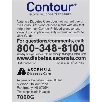 CONTOUR Test Strips, Blood Glucose