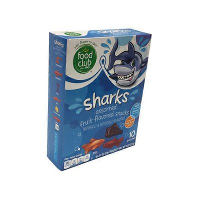 Food Club Fd Fruit Snacks Sharks