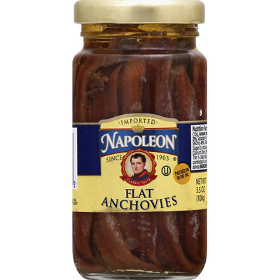 Napoleon Co. Flat Anchovies In Glass