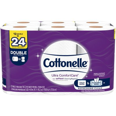 Cottonelle Ultra ComfortCare Double Roll Toilet Paper Bath Tissue