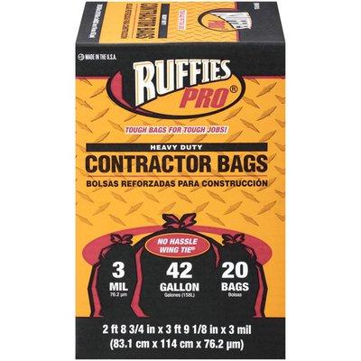 Ruffies 42 Galon Heavy Duty Contractor Sunbelt Bag