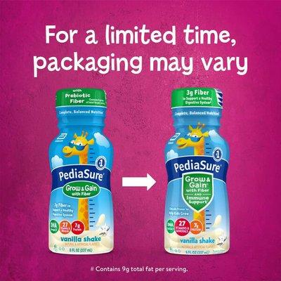 PediaSure Grow & Gain with Fiber Kids' Nutritional Shake Vanilla