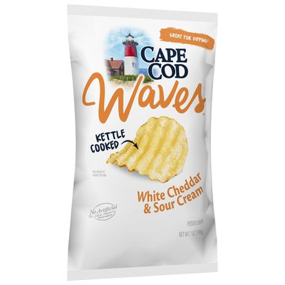 Cape Cod® White Cheddar & Sour Cream Waves Kettle Cooked Potato Chips