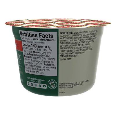 Idahoan Roasted Garlic Mashed Potatoes Cup