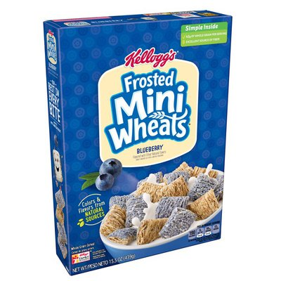 Kellogg's Breakfast Cereal Frosted Mini-Wheats Cereal Blueberry