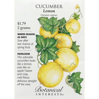 Botanical Interests Seeds, Cucumber, Lemon