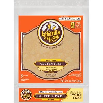 La Tortilla Factory Wheat Free Gluten Free Ancient Grain Ivory Teff Wraps