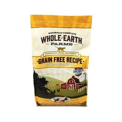 Whole Earth Farms Grain Free Recipe With Real Chicken Natural Food For Cats With Added Vitamins & Minerals