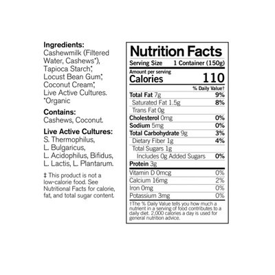 Forager Project Organic Dairy-Free Unsweetened Plain Cashewmilk Yogurt