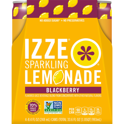 Izze Blackberry Lemonade Flavored Beverage