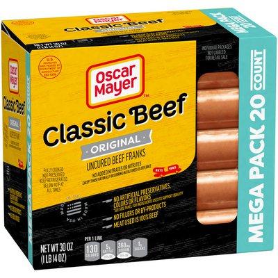 Oscar Mayer Classic Beef Uncured Franks Hot Dogs Mega Pack