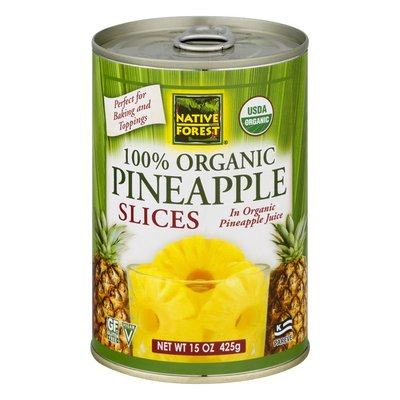 Native Forest Pineapple Slices, Organic, in Their Own Organic Juices