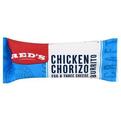 Reds Burrito, Chicken Chorizo, Egg & Three Cheese
