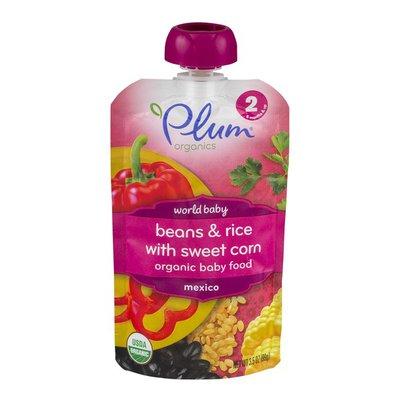 Plum Organics Organic Baby Food Beans & Rice with Sweet Corn Stage 2