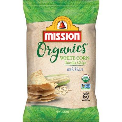 Mission Organics White Corn Tortilla Chips with Sea Salt