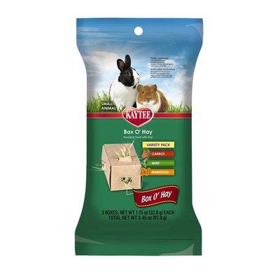 Kaytee Single Serve Foraging Treat Box 'O Hay Variety Pack