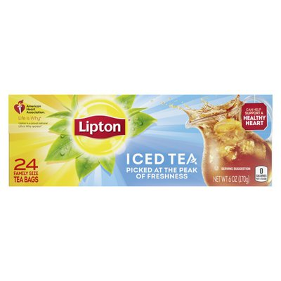 Lipton Family Size Tea Unsweetened Tea