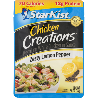 StarKist® Chicken Creations® Zesty Lemon Pepper - 2.6 oz Pouch