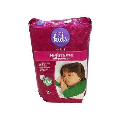Basics For Kids Nighttime Underwear For Girls S/M