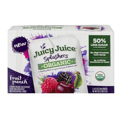 Juicy Juice Juice Beverage, Organic, Fruit Punch, 8 Pack