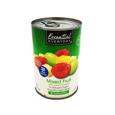 Essential Everyday Mixed Fruit With Extra Cherries In Natural Cherry Flavored Light Syrup