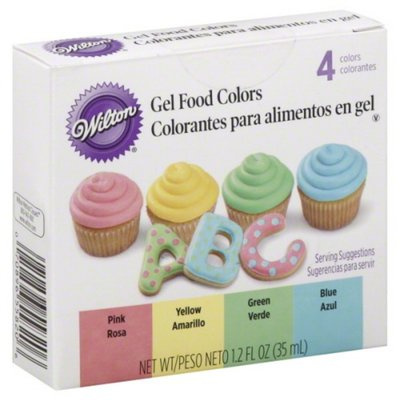 Wilton Food Colors, Gel, 4 Colors