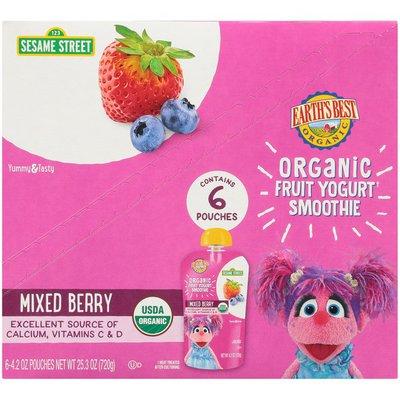 Earth's Best Sesame Street Mixed Berry Organic Fruit Yogurt Smoothie