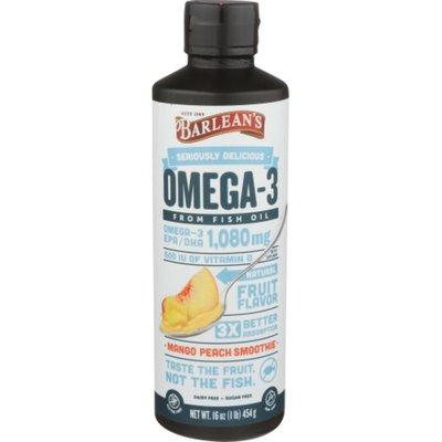 Barlean's Fish Oil, with Vitamin D, Mango Peach