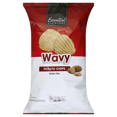 Essential Everyday Potato Chips, Wavy