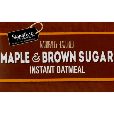 Signature Select Instant Oatmeal, Maple & Brown Sugar