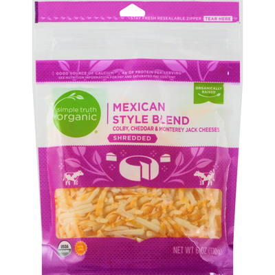 Simple Truth Shredded Cheese, Mexican Style Blend