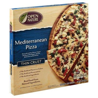Open Nature Pizza, Thin Crust, Mediterranean Style