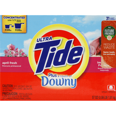 Tide Detergent, Ultra, Plus a Touch of Downy, April Fresh