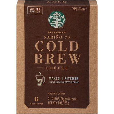 Starbucks Nariño 70 Cold Brew Black Medium Roast Starbucks Nariño 70 Cold Brew Black Medium Roast Ground Coffee