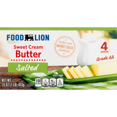 Food Lion Butter, Sweet Cream, Salted