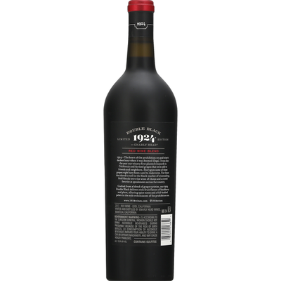 1924 Red Wine Blend, Double Black, California, 2017