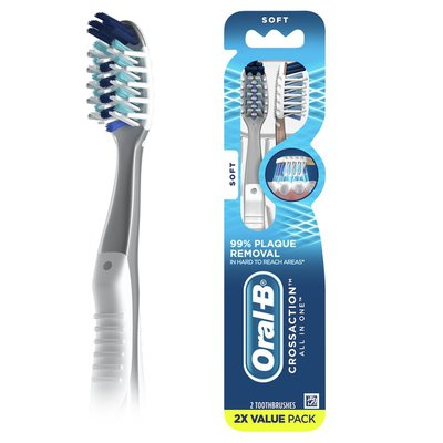 Oral-B Crossaction All In One Toothbrushes, Soft