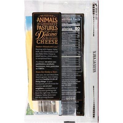 Organic Valley Alpine Style Organic Baby Swiss Cheese Slices
