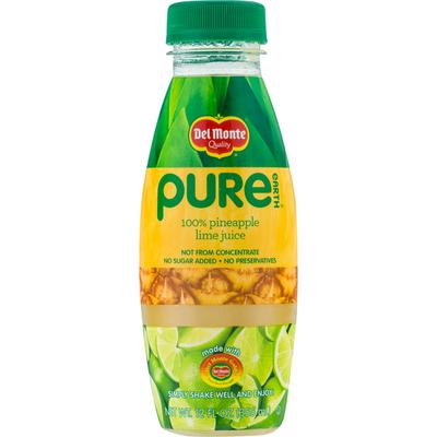 Del Monte 100% Juice, Pineapple Lime