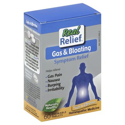 Real Relief Symptom Relief, Gas & Bloating, Chewable Tablets