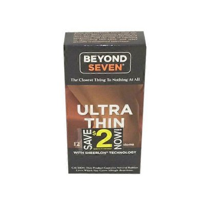 Beyond Seven Ultra Thin Latex Lubricated Condoms